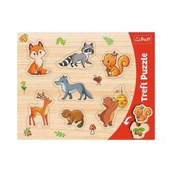 Trefl Puzzle Konturenpuzzle - Wald, 7 Teile, Puzzleteile