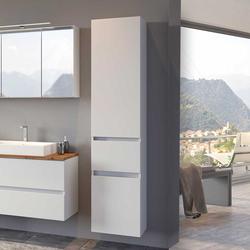 Weißer Badschrank 40 cm breit 180 cm hoch