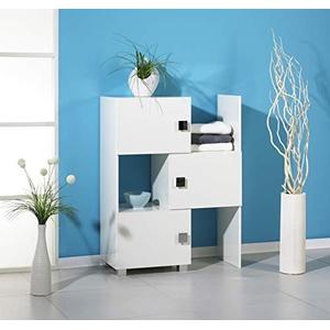 Schildmeyer 105849 Schieberegal, 47-78 x 101 x 34,5 cm, weiß