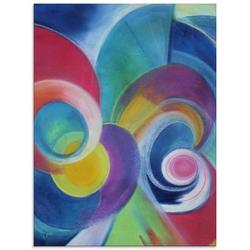 Artland Glasbild Farbkreise, Muster (1 Stück)