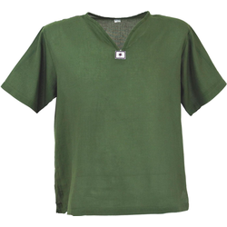 Guru-Shop Hemd & Shirt Yoga Hemd, Goa Hemd, Kurzarm, Männerhemd,.. L