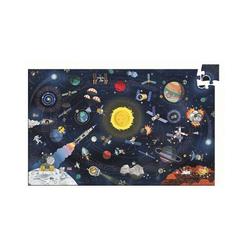 DJECO Puzzle Wimmelpuzzle Der Weltraum, 200 Teile + Buch, Puzzleteile