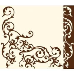"Mank Airlaid Servietten Ornaments ""Pomp"", 40 x 40 cm, 1/4 Falz, 60 g, Farbe: creme-mocca, 1 Karton = 6 x 50 Stück = 300 Servietten"