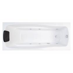 Emotion Whirlpool-Badewanne Whirlpool Set Optimus 170 cm lang Volkswhirlpool mit Massage-Basisaustattung