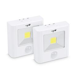 HEITECH Unterbauleuchte COB LED Licht mit Bewegungsmelder innen 2er Pack - batteriebetriebene Wandleuchte magnetisch & mit automatischer Lichtaktivierung - Batterie Nachtlicht kabellos als Schranklicht Schrankleuchte (2-St)