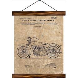 Vintage Lehrtafel - Cycle support patent - Vintage Brown