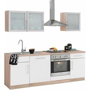 wiho Küchen Küchenzeile Aachen, ohne E-Geräte, Breite 220 cm weiß Küchenzeilen Geräte -blöcke Küchenmöbel