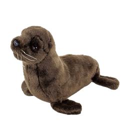 Teddys Rothenburg Kuscheltier Seelöwe 25 cm dunkelbraun Robben Seehunde (Stofftiere Plüschtiere)