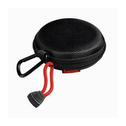 Hama Kopfhörer Tasche für In Ear Ohrhörer Hardcase mit Karabiner Case Innenmaß 7 x 7 x 2,4 cm schwarz