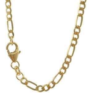 HOPLO Goldkette 2,6 mm 21 cm 333 - 8 Karat Gelbgold Figarokette (inkl. Schmuckbox)