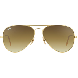 Ray Ban Aviator Large Metal RB3025 58mm matte gold / brown gradient