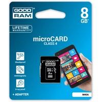 GoodRam microSDHC 8GB Class 4 + SD-Adapter