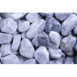 Marmor Kristall Blau getrommelt, 40-60, 250 kg Big Bag
