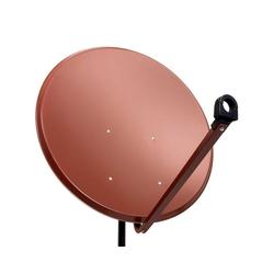 PremiumX PXS100 Satellitenschüssel 100cm Stahl Ziegelrot Satellitenantenne SAT Spiegel mit LNB Tragarm und Masthalterung SAT-Antenne