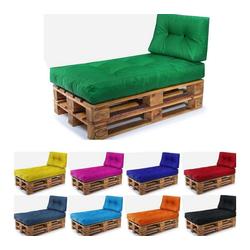 Easysitz Sitzkissen Palettenkissen Set 2, 120 x 80 cm für Europaletten grün