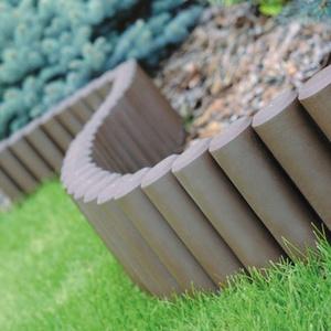 Prosperplast Palisade 2,7 m Beetumrandung Rasenkante Randstein Kantenstein, braun, 31 x 28 x 26,6 cm, IPAL5-R222