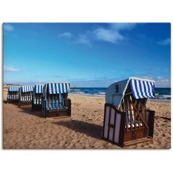 Artland Wandbild Strandkörbe, Strand (1 Stück) 40 cm x 30 cm