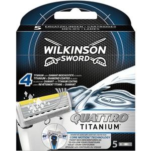 Wilkinson Sword Quattro Titanium Core Motion Rasierklingen für Herren Rasierer, 5 St
