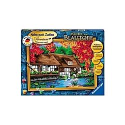 Malen nach Zahlen - Jeder kann malen (Mal-Sets), Bildgröße: 30 x 40 cm: Mühle am Blautopf