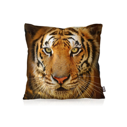 Kissenbezug, VOID, Tigerkopf Outdoor Indoor Tigerfell Tiger katze tier fell 80 cm x 80 cm