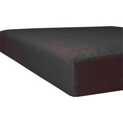 Massageliegenbezug Flausch-Frottee, Kneer grau Spannbettlaken Bettlaken Betttücher Bettwäsche, und Laken