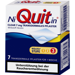 Niquitin Clear 7 mg transdermale Pflaster 7 St
