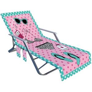 Auflage Gartenliege,Strandliegenauflage, Handtuch Stuhl Strandtuch Mit Taschen Schnell Trocknende Handtücher 210 X 73 Cm