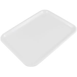 Milopon Tablett Serviertablett Kunststoff Rechteckiges Esstablett Servierplatten Tablett für Gastronomie Restaurant Pub Bar (S, Weiß)