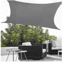 [en casa] Sonnensegel rechteckig 400 x 200 cm grau