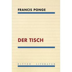 Der Tisch als Buch von Ponge Francis