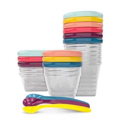 Babymoov Babybols Aufbewahrungsbehälter Für Babynahrung - Multi-set 15-teilig 3 X 120 Ml + 3 X 180 Ml + 6 X 250 Ml + 3 Flexible Löffel Hermetischer Drehverschluss