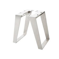 DELIFE Tafelpoten Live-Edge  boomtafel 6,0x0,8 cm roestvrij staal hoekig (set van 2)., Tafels