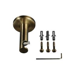 Gardinenstangenhalter, Liedeco, Gardinenstangen, (1-St), für Gardinenstangen Ø 16 mm braun