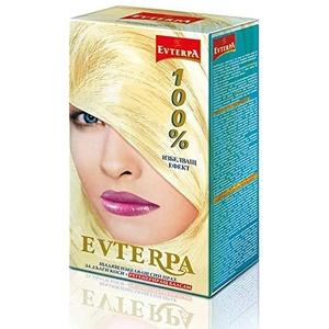 Evterpa Sanftes Blau Blondierpulver für lange Haare - 40Vol. 80ml + Blondierpulver 24gr /Bleichpulver