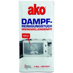 ako® Dampfreinigungstuch für Mikrowellen, Dampfreinigungs Sachet zur schnellen und leichten Reinigung für Backöfen, 1 Packung = 3 Stück