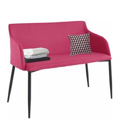 Esstischbank in Pink Kunstleder 100 cm breit