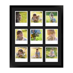 FrameDesign Mende Bilderrahmen Bilderrahmen H950, für 9 Bilder, im Polaroid Format weiß