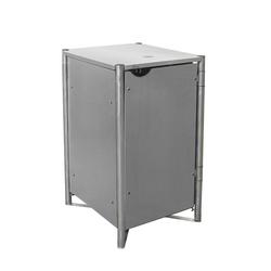Mülltonnenbox 240 l, Kunststoff, grau, 1er