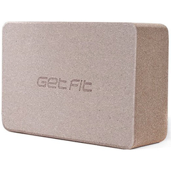 Get Fit Cork Yoga Block - Zubehör Yoga Brown