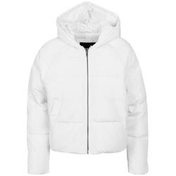 URBAN CLASSICS Winterjacke TB1758 Ladies Hooded Oversized Puffer Jacke weiß