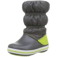 Crocs Winter Boot Kids Schneestiefel, Slate Grey/ Lime Punch, 32/33