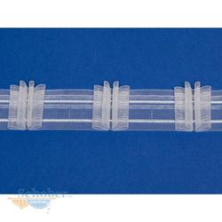 Faltenband 3 Falten Gardinenband Kräuselband weiß transparent 4 Falten 3,0