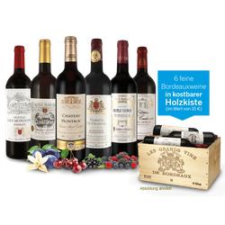 Probierpaket Die Welt der Bordeaux-Weine in der Holzkiste