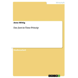 Das Just-in-Time-Prinzip als Buch von Anne Wittig