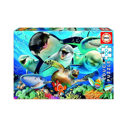 Educa Puzzle Puzzle Unterwasser Selfie, 100 Teile, Puzzleteile