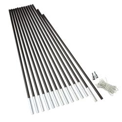 FRILUFTS FIBREGLASS POLE KIT 9,5 - Zeltstange - Gr. 600 CM X 9,5 MM Ø - Ersatzgestänge - grau / SCHWARZ - 880 g - Zeltzubehör