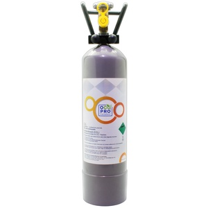 OCOPRO CO2 Zylinder Kohlensäure passend für SPRUDELUX INOX 2kg / 500g, NEU Befüllt + Tragegriff TÜV-2031 E290 (500g mit Standfuss)