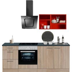 OPTIFIT Küchenzeile Mini, ohne E-Geräte, Breite 210 cm rot