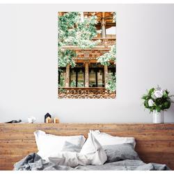 Posterlounge Wandbild, Hausfassade in Barcelona, Spanien 60 cm x 90 cm