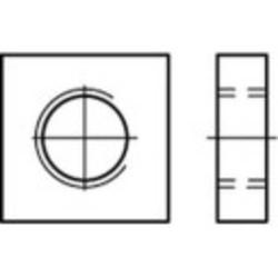 TOOLCRAFT 109028 Vierkantmuttern M4 DIN 562 Stahl 100St.